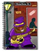Blowin' On Bourbon Spiral Notebook