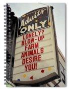 Blowup Farm Animals Sign Spiral Notebook