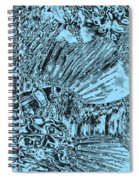 Blue Abstract - Lionfish Spiral Notebook