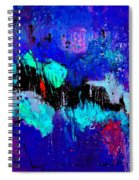 Blue Abstract 55698 Spiral Notebook
