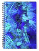 Blue Abstract Art - Reflections - Sharon Cummings Spiral Notebook