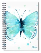 Blue Abstract Butterfly Spiral Notebook