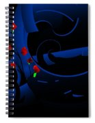 Blue Abstract Spiral Notebook