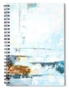 Blue Abstract 12m1 Spiral Notebook