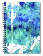 Blue And Aqua Abstract - Wishing Well - Sharon Cummings Spiral Notebook