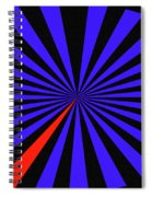 Blue And Black Abstract # 3 Spiral Notebook