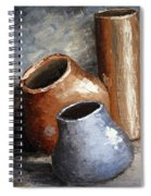 Blue And Brown Pots Spiral Notebook