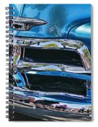 Blue And Chrome Chevy Pickup Front End Spiral Notebook
