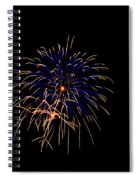 Blue And Gold Fireworks Spiral Notebook