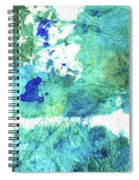 Blue And Green Abstract - Imagine - Sharon Cummings Spiral Notebook