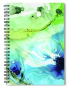 Blue And Green Abstract - Land And Sea - Sharon Cummings Spiral Notebook