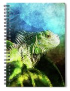 Blue And Green Iguana Profile Spiral Notebook