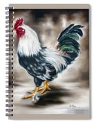 Blue And Green Rooster Spiral Notebook