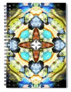 Blue And Green Stones 4 Spiral Notebook