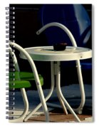 Blue And Green Spiral Notebook