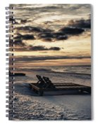 Blue And Orange Sunrise On The Beach Spiral Notebook