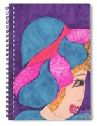 Blue And Pink Hat Spiral Notebook