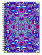 Blue And Pink Wallpaper Fractal 71 Spiral Notebook