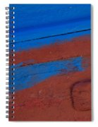 Blue And Red Abstract Spiral Notebook
