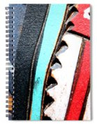 Blue And Red Spiral Notebook
