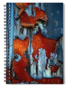 Blue And Rust Spiral Notebook