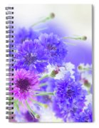 Blue And Violet Cornflowers Spiral Notebook
