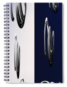 Blue And White Abstract Spiral Notebook