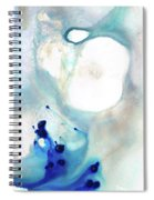 Blue And White Art - A Short Wave - Sharon Cummings Spiral Notebook