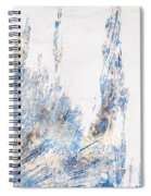 Blue And White Art - Ice Castles - Sharon Cummings Spiral Notebook