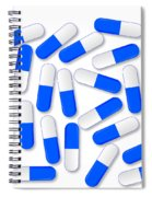 Blue And White Capsules Spiral Notebook