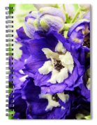 Blue And White Delphiniums Spiral Notebook