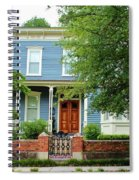 Blue And White House Spiral Notebook