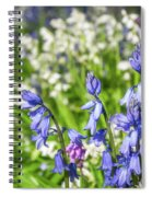 Blue And White Hyacinth Flowers Spiral Notebook
