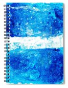 Blue And White Modern Art - Two Pools 2 - Sharon Cummings Spiral Notebook