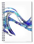 Blue And White Painting - Wave 2 - Sharon Cummings Spiral Notebook