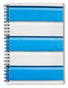 Blue And White Wood Spiral Notebook
