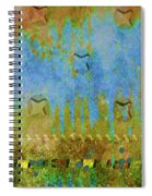 Blue And Yellow Abstract Spiral Notebook