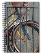 Blue And Yellow Bikes Spiral Notebook