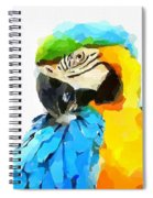 Blue And Yellow Macaw Spiral Notebook