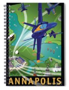 Blue Angels Over Annapolis Usna Spiral Notebook