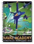 Blue Angels Over Usna Spiral Notebook