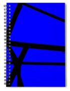 Blue Angle Abstract Spiral Notebook