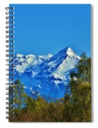 Blue Autumn Sky Spiral Notebook