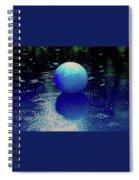 Blue Ball 4 Spiral Notebook