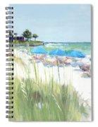 Blue Beach Umbrellas, Crescent Beach, Siesta Key - Wide Spiral Notebook