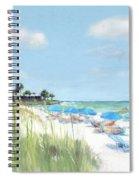 Blue Beach Umbrellas, Point Of Rocks, Crescent Beach, Siesta Key Spiral Notebook
