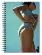 Blue Bikini Sixty Two Spiral Notebook