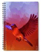 Blue Bird 01  Spiral Notebook
