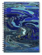 Blue Bird Abstract Spiral Notebook