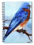 Blue Bird Spiral Notebook